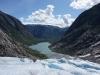 Blueice Tour, Blick vom Gletscher auf den See