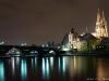Blick von der Jahninsel auf Regensburg
