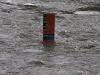 Hochwassertafel östlich der Steinernen Brücke
