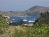 Blick von Süden auf Schiffe vor Lipari