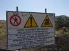 Warntafel am Weg zum Gran Cratere