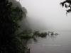 Nebel über dem See am Cerro Chato