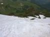 Abstieg über Schneereste