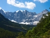 Blick übers Johannestal zur Karwendelhauptkette