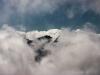 Ein Gletscher in den Wolken