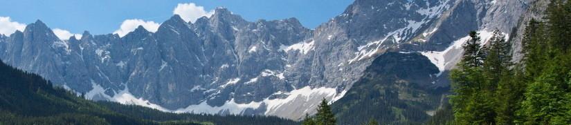 Karwendelhauptkette vom Johannestal gesehen